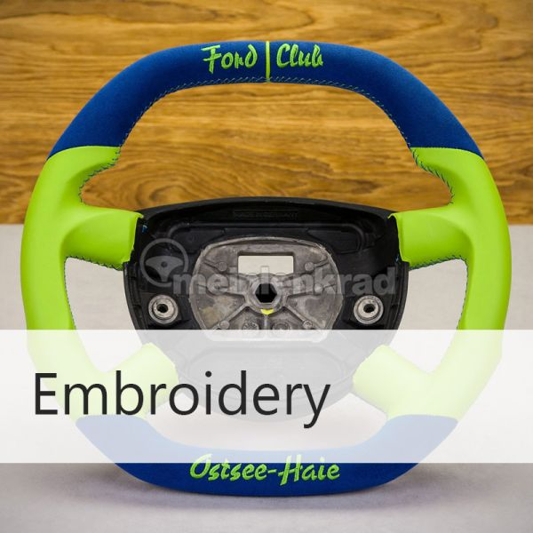 Embroidery :: Embroider a lettering of your choice.